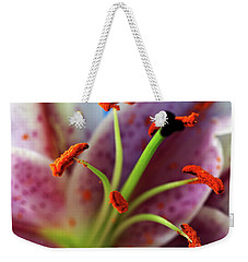 Weekender Tote Bag featuring the photograph Stargazer Macro by Baggieoldboy
