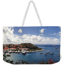 Weekender Tote Bag featuring the photograph St. Barths Harbor At Gustavia, St. Barthelemy by Lars Lentz