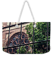 St Boniface Church In Reflection  Weekender Tote Bag by Sarah Loft