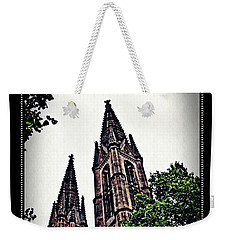 St Boniface Church Towers   Weekender Tote Bag by Sarah Loft