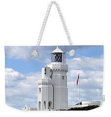 St. Catherine's Lighthouse On The Isle Of Wight Weekender Tote Bag by Carla Parris