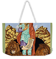 St. Daniel In The Lion's Den - Lwdld Weekender Tote Bag