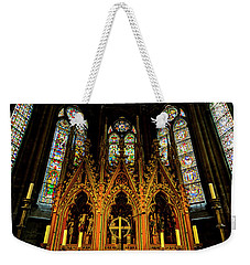 Weekender Tote Bag featuring the photograph St. Elizabeth Church by David Morefield