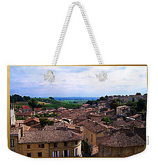 Weekender Tote Bag featuring the photograph St. Emilion View by Joan  Minchak