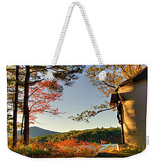 Weekender Tote Bag featuring the photograph St Francis Chapel - Marlborough, Nh by Joann Vitali