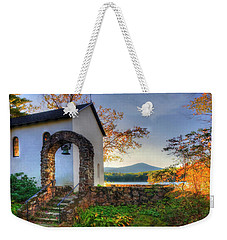 Weekender Tote Bag featuring the photograph St Francis Chapel Mountain Scene - Marlborough Nh by Joann Vitali