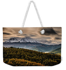 Weekender Tote Bag featuring the photograph St. Helens Wrath by Dan Mihai
