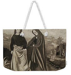 St. John And Blessed Mother At The Tomb Weekender Tote Bag