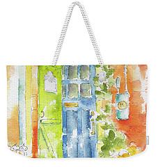Weekender Tote Bag featuring the painting St Johns Jelly Bean At 8 Wood Street by Pat Katz