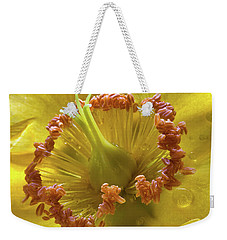 St Johns Wort Flower Centre Weekender Tote Bag