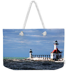 St. Joseph Lighthouse - Michigan Weekender Tote Bag
