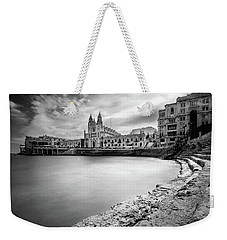 Weekender Tote Bag featuring the photograph St. Julian's Bay by Okan YILMAZ