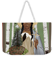 St. Kateri Tekakwitha Of The Iroquois - Rlktk Weekender Tote Bag