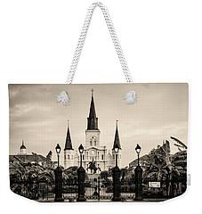 St. Louis Cathedral Sepia Weekender Tote Bag