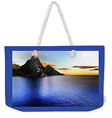 Weekender Tote Bag featuring the photograph St. Lucia's Cobalt Blues by Karen Wiles