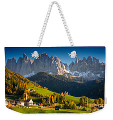 St. Magdalena Alpine Village In Autumn Weekender Tote Bag