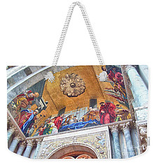 Weekender Tote Bag featuring the photograph St. Marks Basilica Venice Italy by John Noyes and Janette Boyd