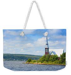 St Marks In Middle Lahave Nova Scotia Weekender Tote Bag by Ken Morris