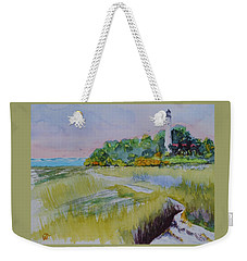 St. Marks Lighthouse Beachfront Weekender Tote Bag by Warren Thompson