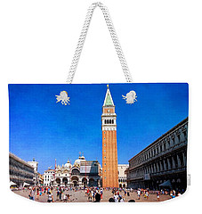 Weekender Tote Bag featuring the photograph St Mark's Square by Anne Kotan