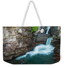 Weekender Tote Bag featuring the photograph St. Mary Falls by Gary Lengyel