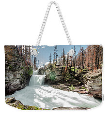 Weekender Tote Bag featuring the photograph St. Mary Falls by Margaret Pitcher