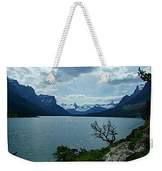 St Mary Lake, Incoming Storm Weekender Tote Bag