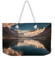 St Mary Lake Sunset Weekender Tote Bag