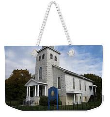 Weekender Tote Bag featuring the photograph St Nicholas Church Saint Clair Pennsylvania by David Dehner
