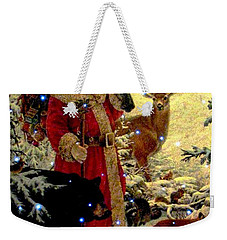 Weekender Tote Bag featuring the photograph St Nick  And Friends by Judyann Matthews
