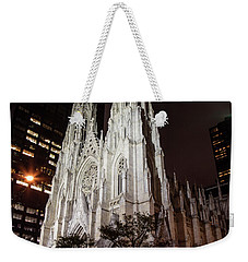 St Patrick Cathedral At Night Weekender Tote Bag