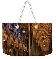 Weekender Tote Bag featuring the photograph St. Patrick's Arches by Jessica Jenney