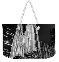 St Patricks Cathedral Nyc Black And White  Weekender Tote Bag