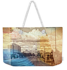 Weekender Tote Bag featuring the photograph St. Paul Capital Building by Susan Stone