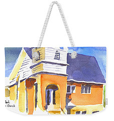 Weekender Tote Bag featuring the painting St. Paul Lutheran 3 Impressions by Kip DeVore