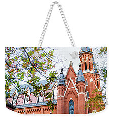 Weekender Tote Bag featuring the photograph St Paul's Cathedral In Downtown Birmingham by Shelby Young