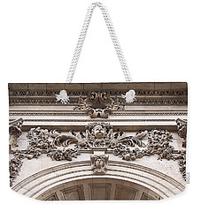 Weekender Tote Bag featuring the photograph St Paul's Cathedral - Stone Carvings by Rona Black