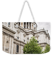 St Pauls Cathedral With Black Taxi Weekender Tote Bag