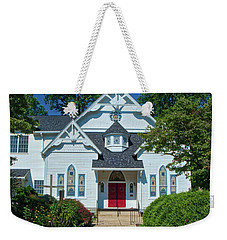 Weekender Tote Bag featuring the photograph St. Pauls United Methodist Church by Mark Dodd