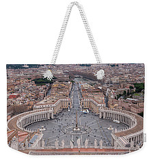 Weekender Tote Bag featuring the photograph St. Peter's Square by Sergey Simanovsky