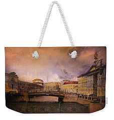 Weekender Tote Bag featuring the photograph St Petersburg Canal by Jeff Burgess