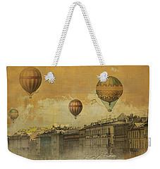 Weekender Tote Bag featuring the digital art St Petersburg With Air Baloons by Jeff Burgess