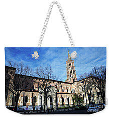 Weekender Tote Bag featuring the photograph St Sernin Basilica by Cendrine Marrouat