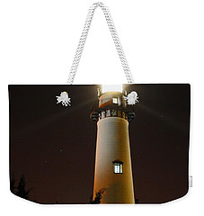 Weekender Tote Bag featuring the photograph St Simons Island Lighthouse by Kathryn Meyer