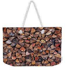 Stacked Firewood Weekender Tote Bag