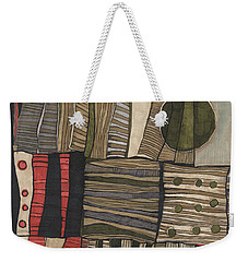 Stacked Shapes Weekender Tote Bag by Sandra Church