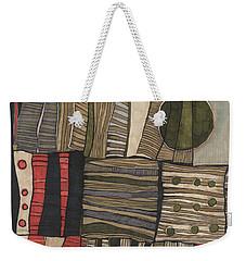 Stacked Shapes Weekender Tote Bag