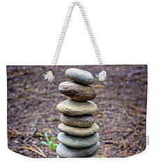 Weekender Tote Bag featuring the photograph Stacked Stones And Fairy Tales II by Marco Oliveira