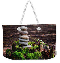 Weekender Tote Bag featuring the photograph Stacked Stones And Fairy Tales IIi by Marco Oliveira