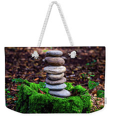 Weekender Tote Bag featuring the photograph Stacked Stones And Fairy Tales Iv by Marco Oliveira